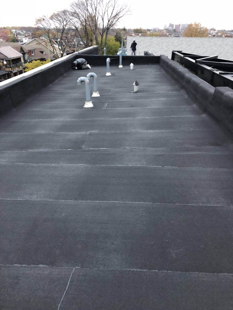 Flat Commercial Roofing project in Toronto