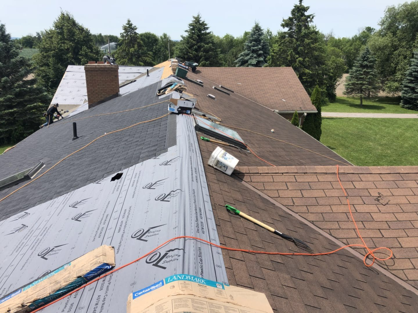 Toronto Roofer During The Work 1 Toronto Roofing Company Roof Repair Amp Replacement Contractor